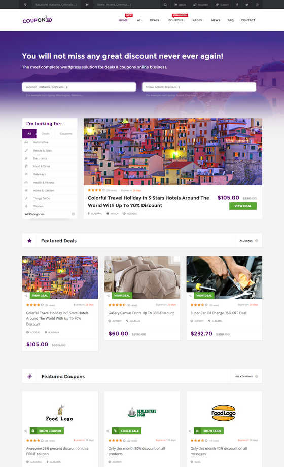Couponxl coupons deals & discounts wp theme