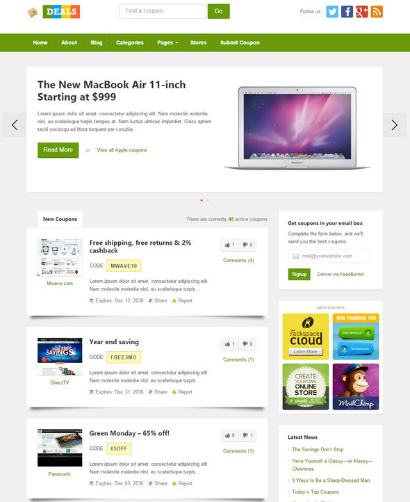 Download deals by ThemeJunkie