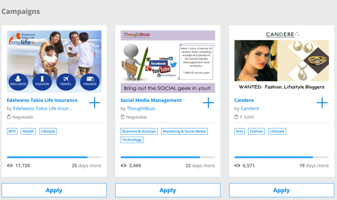 Find paid campaign