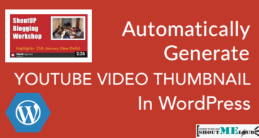 How to Automatically Generate Youtube Video Thumbnail in WordPress