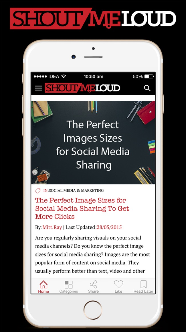Download Free ShoutMeLoud iOS App To Learn Blogging on Go