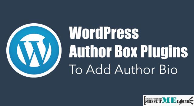 WordPress Author Box Plugins