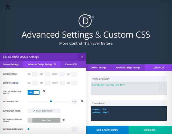 Divi 2.4 Advanced Settings
