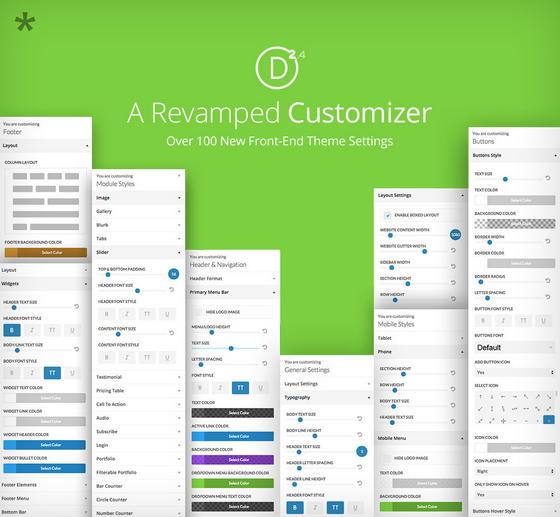 Divi 2.4 Theme Customizer