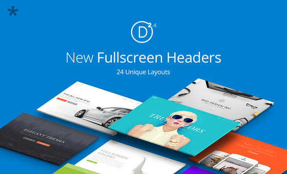 Divi 2.4 Full Screen Module