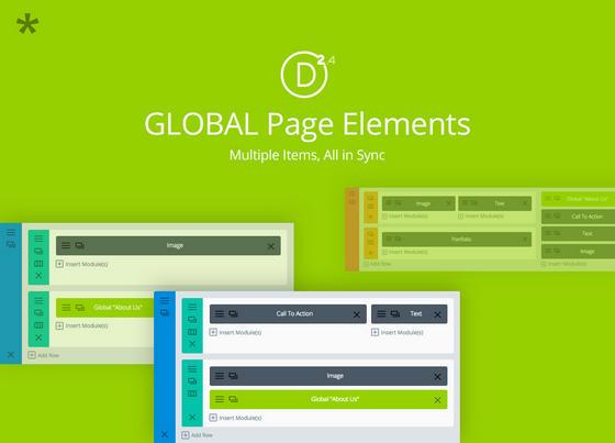 Divi 2.4 Global Elements
