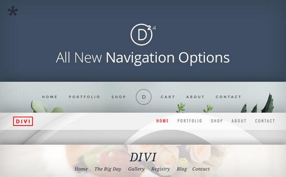 Divi 2.4 Navigation