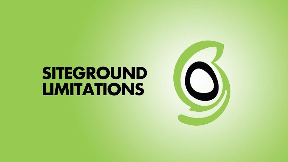 Understanding SiteGround Shared Hosting's Biggest Limitation