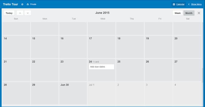 Trello Calendar Powerup