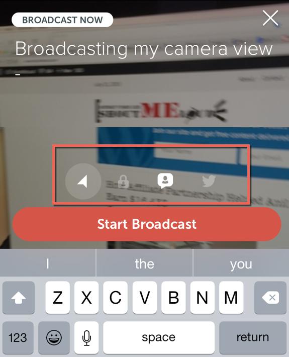 Broadcasting on Periscope