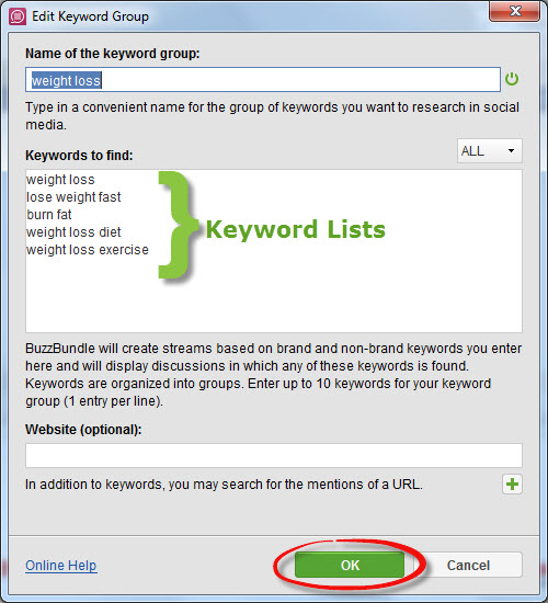 Buzz Bundle Keyword Lists