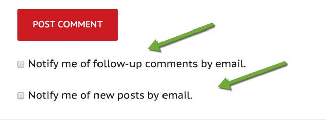 Comment notifications Jetpack plugin