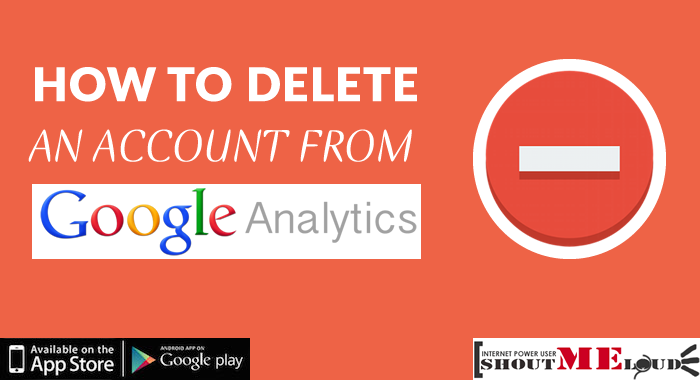 Delete an Account from Google Analytics
