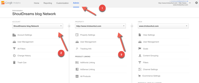Google analytics admin guide