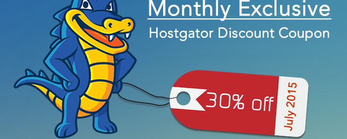 HostGator Maximum Discount Code July 2015 -30% off