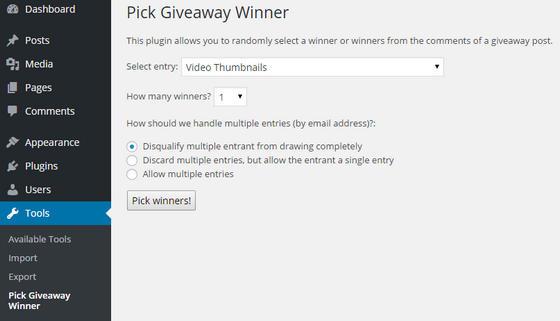 Pick Giveaway Winner