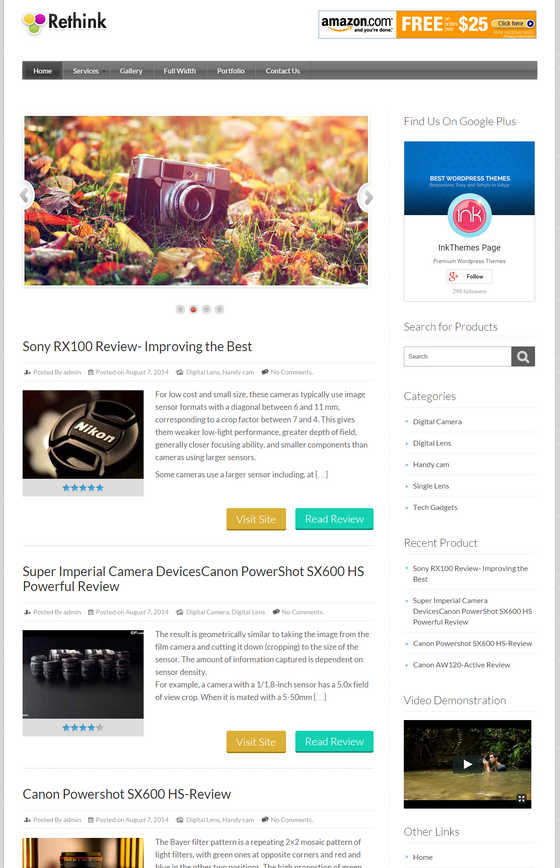 Download Rethink WordPress theme