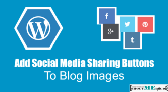 How To Add Social Media Sharing Buttons to Blog Images?