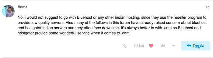 Bluehost U.S vs Bluehost India
