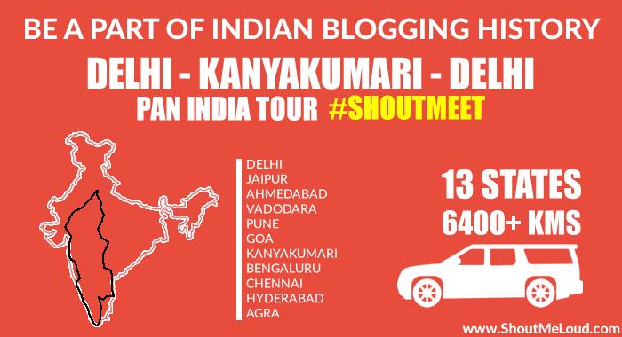 Become A Part of India Historic Road Trip From Delhi-Kanyakumari: ShoutMeet