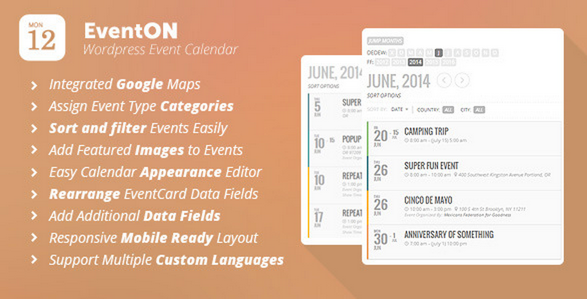 EventOn WordPress Event Calendar Plug