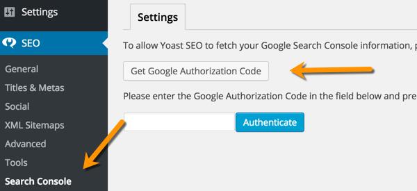 Get Google Authorization code