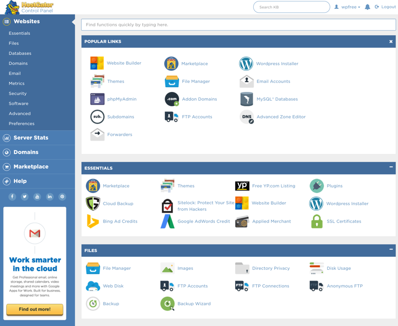 hostgator business plan dedicated ip email