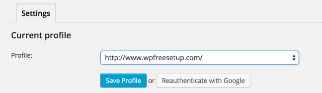 Save profile Search console