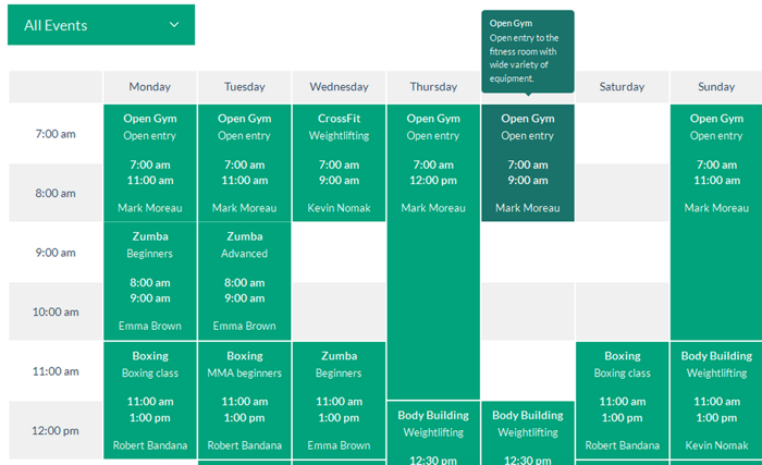 Timetable event schedule WordPress plugin download