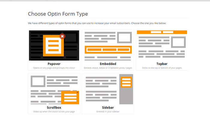 Opt-in Form Type