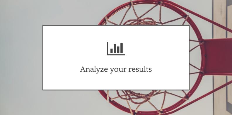 Analyze results