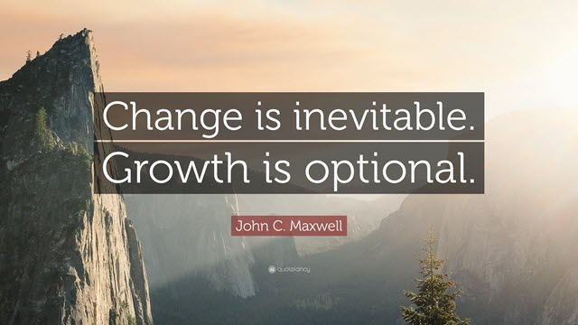 Change is inevitable