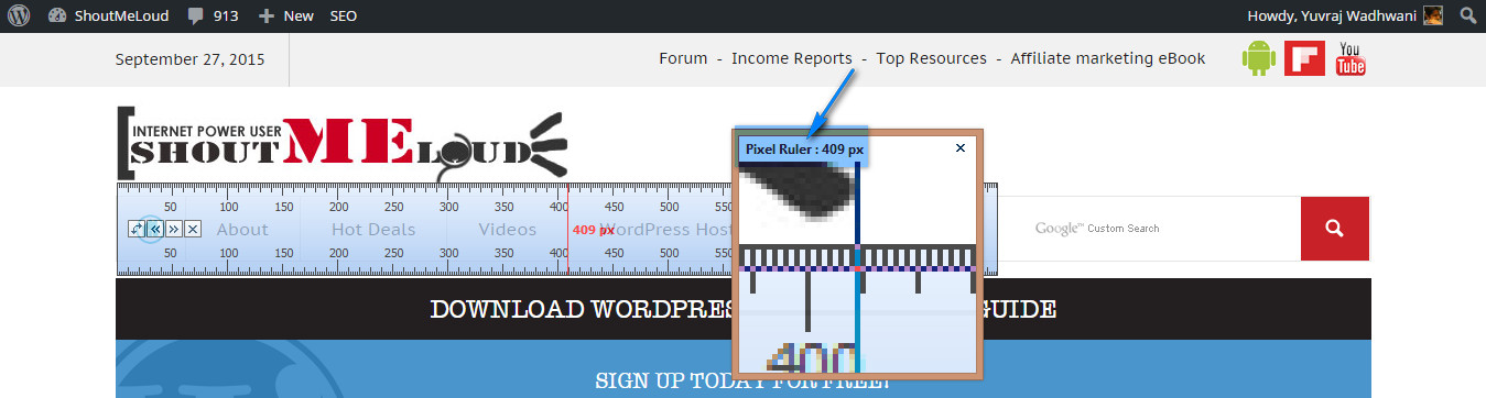 PicPick Virtual Ruler