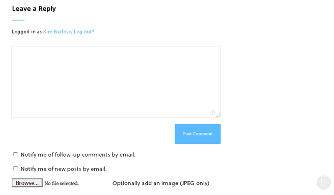 Upload Image in WordPress Comment
