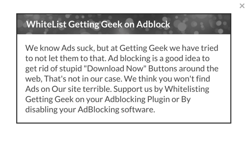 site blocking adblock