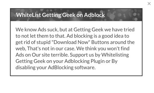 AdBlock warning