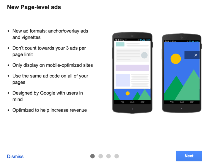 AdSense Page level ads