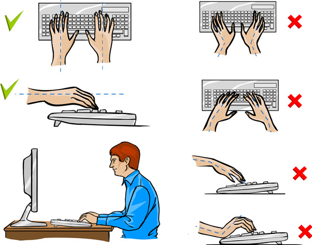 Desk typing ergonomics