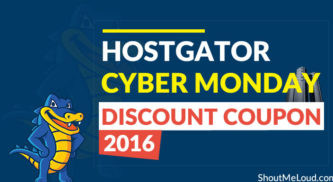 Hostgator Cyber Monday Discount Coupon 2016