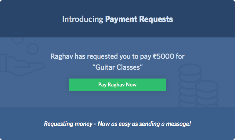 Send Direct Payment Request via SMS or Email- India Only
