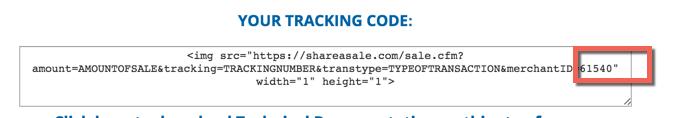 ShareASale Merchant ID