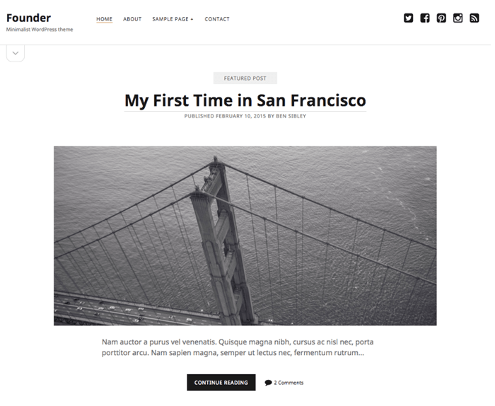 Founder WordPress Theme