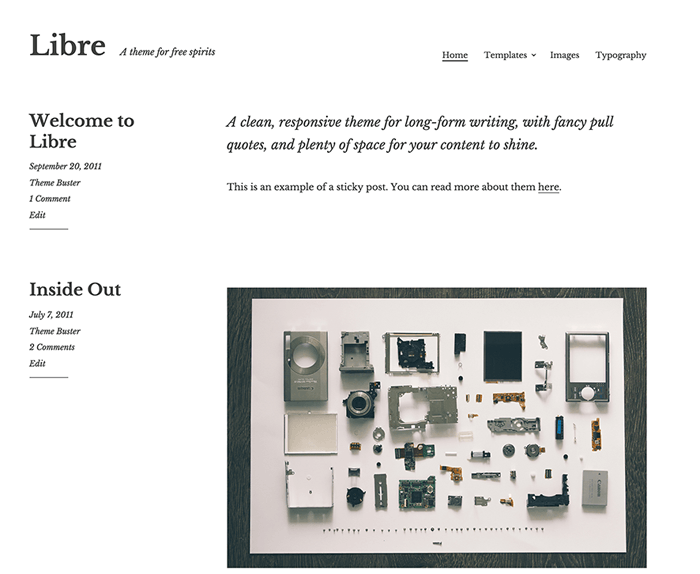Libre WordPress Theme