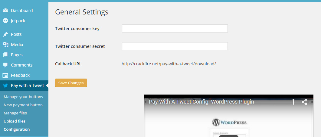 Pay with a tweet WordPress plugin