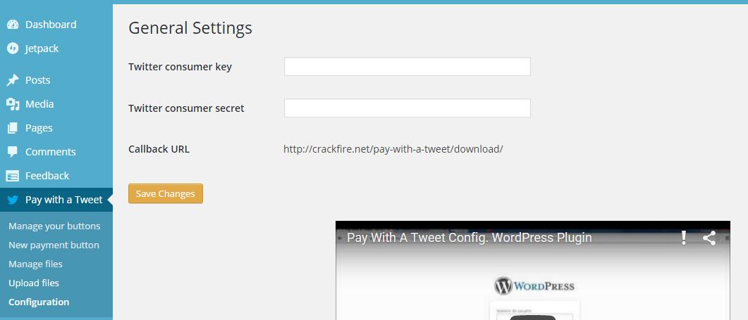 Pay with a tweet WordPress plugin