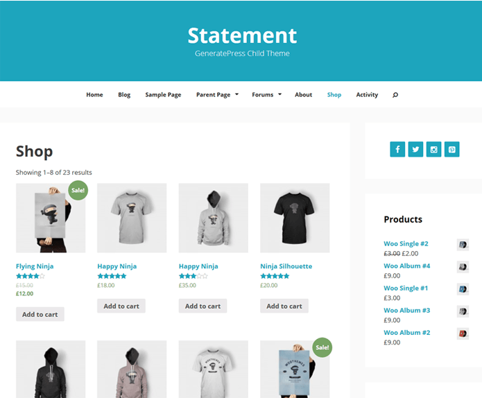 Statement WordPress Theme