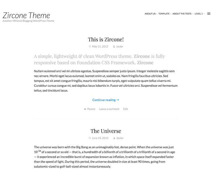 Zircone WordPress Theme