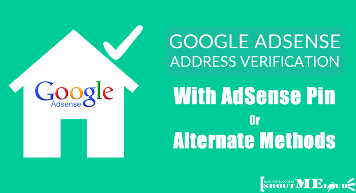 AdSense Address Verification Pin Alternative