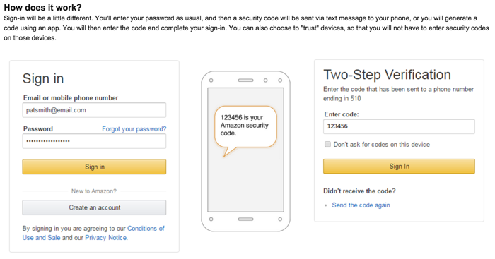 Amazon 2 step verification
