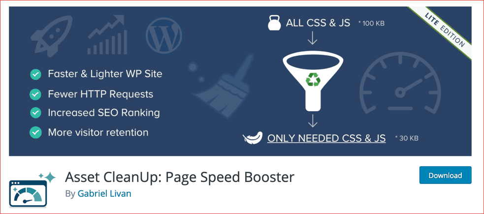 Asset Cleanup WordPress plugin: